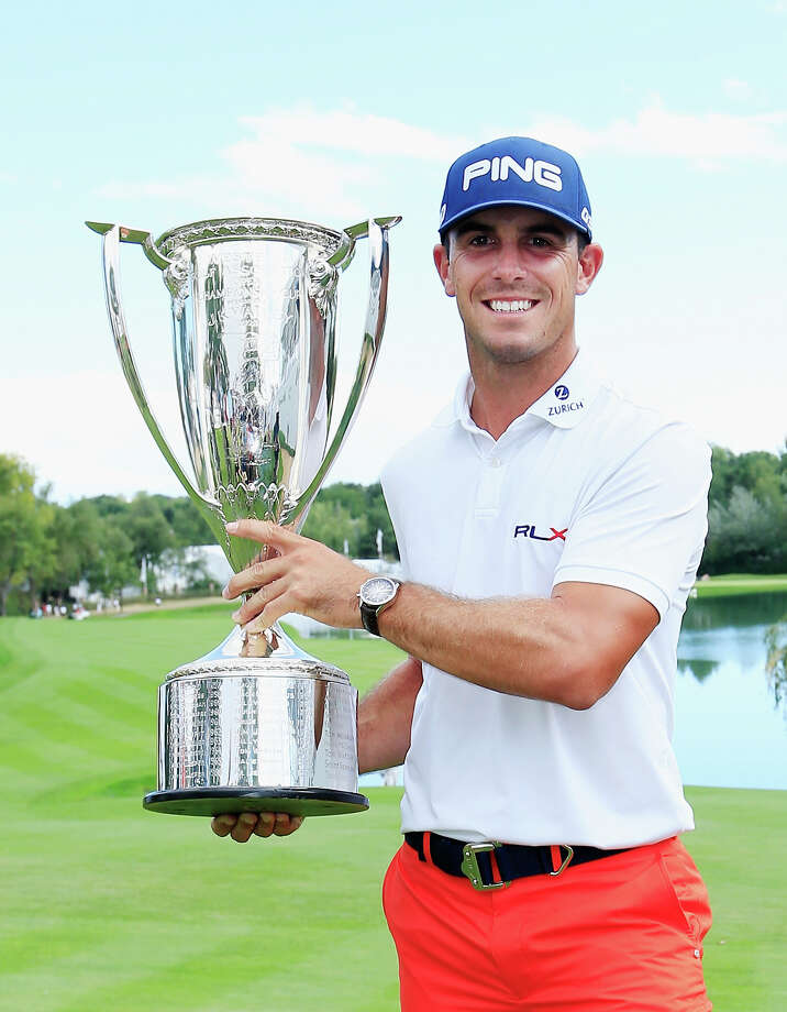 CHERRY HILLS VILLAGE, CO - SEPTEMBER 07:  Billy Horschel of the United States poses with the J.K. Wadley trophy after his two-stroke victory at the BMW Championship at the Cherry Hills Country Club on September 7, 2014 in Cherry Hills Village, Colorado.  (Photo by Jamie Squire/Getty Images) Photo: Jamie Squire, Staff / 2014 Getty Images