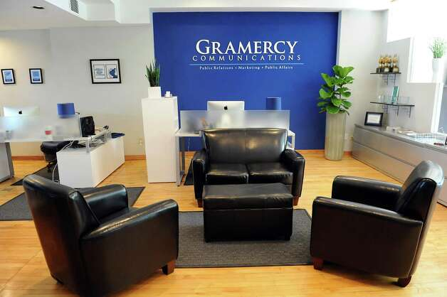 The reception area at Gramercy Communications on Wednesday, Sept. 3, 2014, in Troy, N.Y. (Cindy Schultz / Times Union) Photo: Cindy Schultz / 00028425A