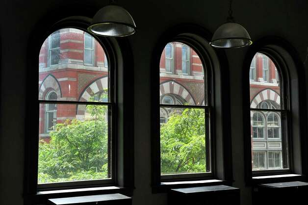 View of the Rice Building from the third floor windows on Wednesday, Sept. 3, 2014, at Gramercy Communications in Troy, N.Y. (Cindy Schultz / Times Union) Photo: Cindy Schultz / 00028425A