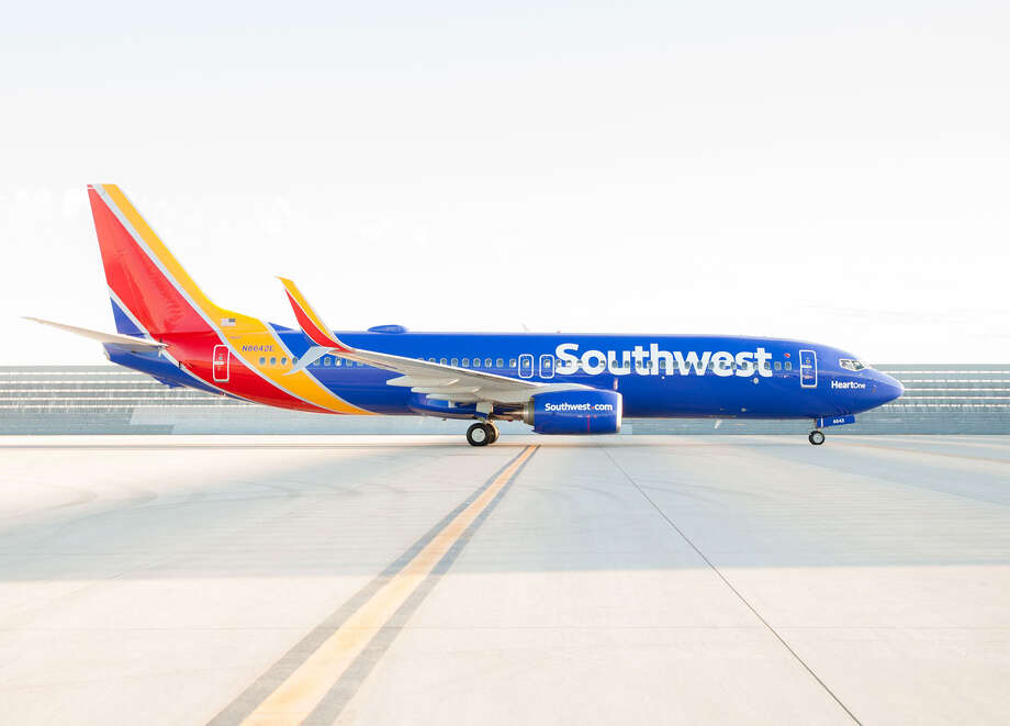 Southwest Airlines' new livery (paint job) is shown on one of its Boeing 737s. Photo: Southwest Airlines