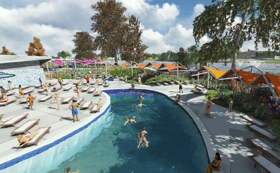 Elmendorf Lake Park improvements will include an upgraded swimming pool area. Photo: Courtesy Illustration