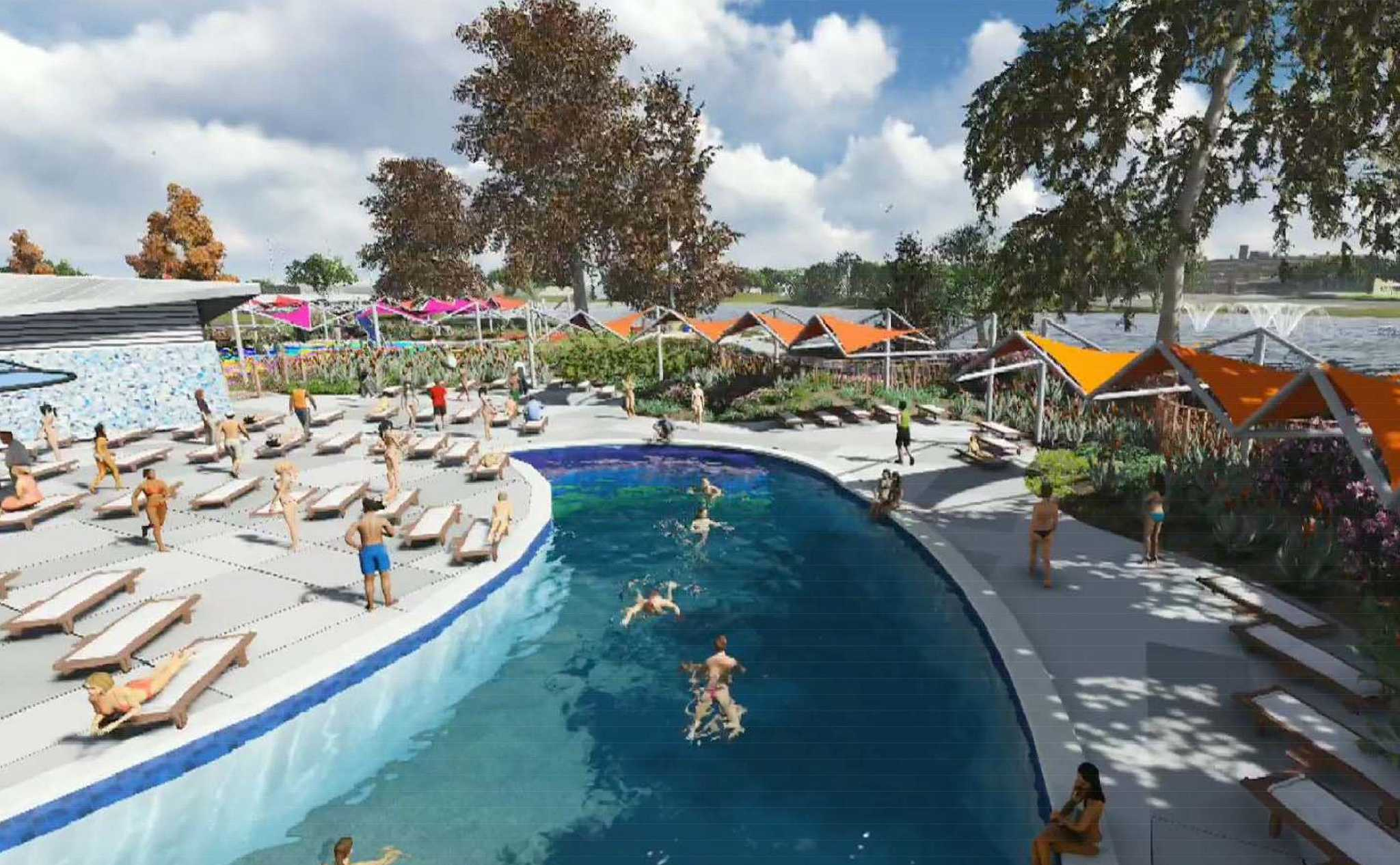 Elmendorf lake park to have new swimming pool other for Pool show san antonio