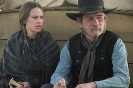 """Hilary Swank and Tommy Lee Jones (who also directed) in """"The Homesman,"""" one of two opening night films at the Mill Valley Film Festival."""