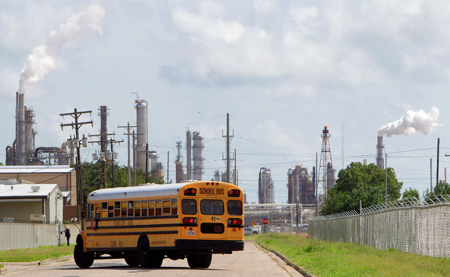 The Texas City school district has been forced to pay back millions in tax dollars to oil companies, and one Galveston official wants the Legislature to intervene. (Cody Duty / Houston Chronicle) Photo: Cody Duty, Staff / © 2014 Houston Chronicle