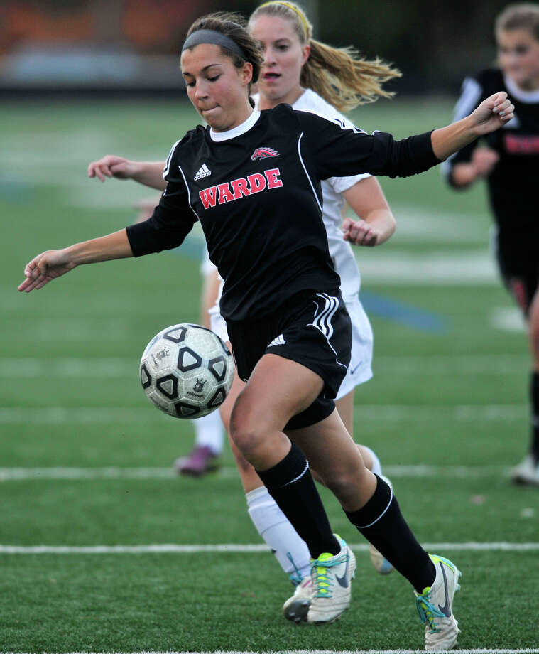 Sarah Reilly will captain Fairfield Warde's 2014 soccer team, which has a veteran group it's coach calls some of the better players to move through the Mustangs' program. Photo: Jason Rearick / Stamford Advocate