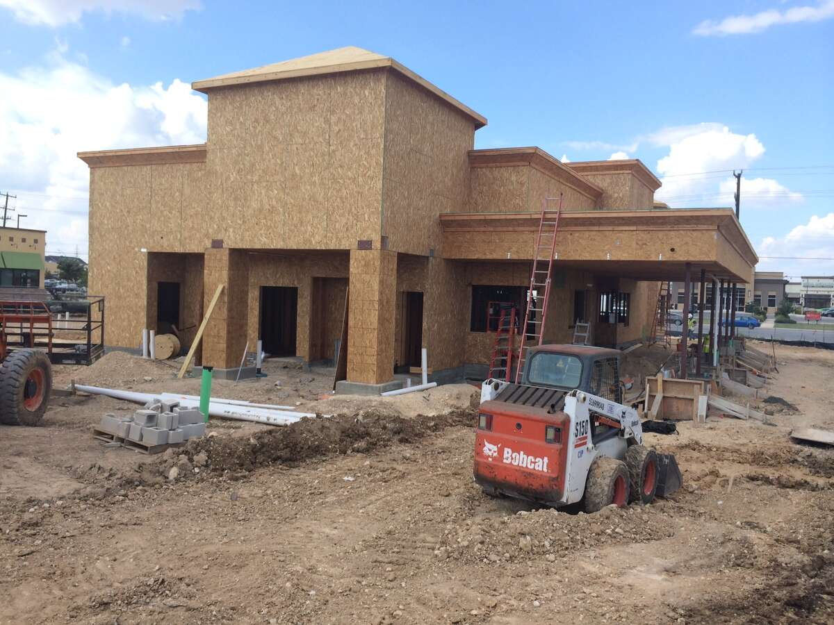 Construction of the In-N-Out Burger on Culebra Road near Loop 1604 is nearing completion and officials have previously said the hope to open before the end of the year. Photo taken Sept. 8, 2014.