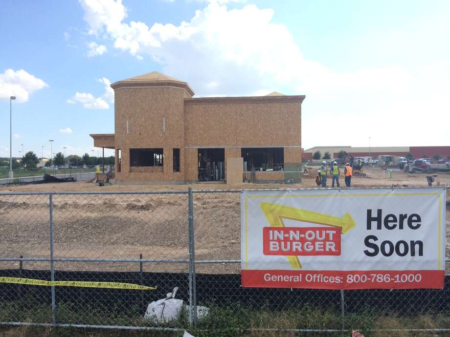 Construction of the In-N-Out Burger on Culebra Road near Loop 1604 is nearing completion and officials have previously said the hope to open before the end of the year. Photo taken Sept. 8, 2014. Photo: San Antonio Express-News