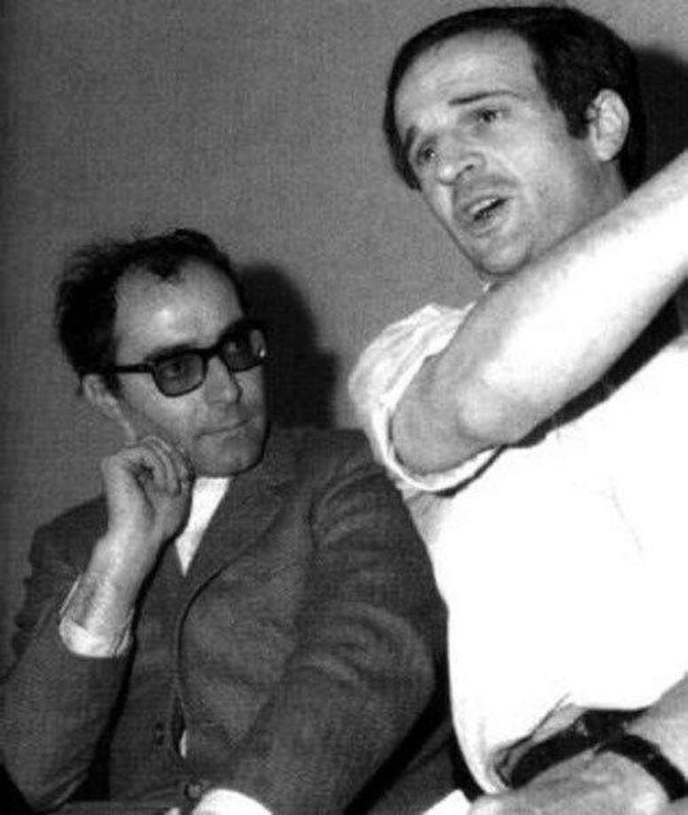 """Jean-Luc Godard (left) and Francois Truffaut from, """"Two in the Wave."""" Photo: Courtesy Of Lorber Films"""