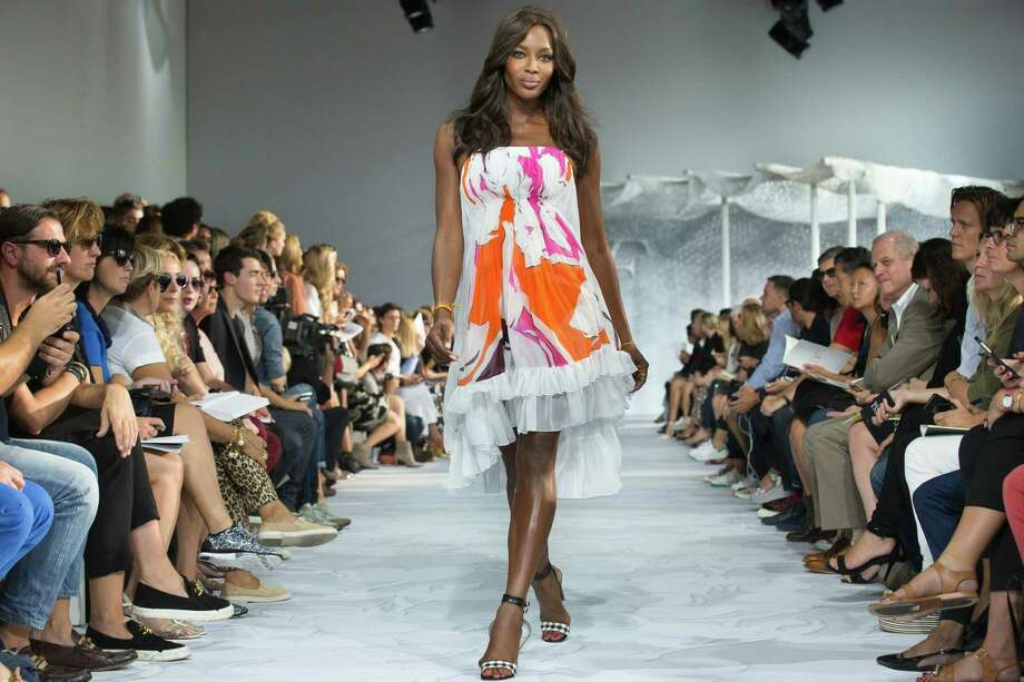 Naomi Campbell walks the runway as the Diane Von Furstenberg Spring 2015 collection is modeled during Fashion Week, Sunday, Sept. 7, 2014, in New York. (AP Photo/John Minchillo) Photo: John Minchillo, FRE / FR170537 AP