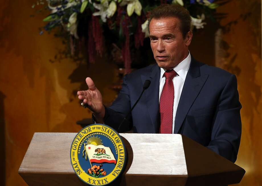"""Did you vote for Arnold?""If we did, we're not admitting it. Photo: Justin Sullivan, Getty Images"