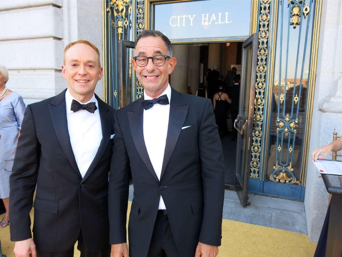 Alan Wintermute (left) and his partner, Fine Arts Museums Director Colin Bailey.