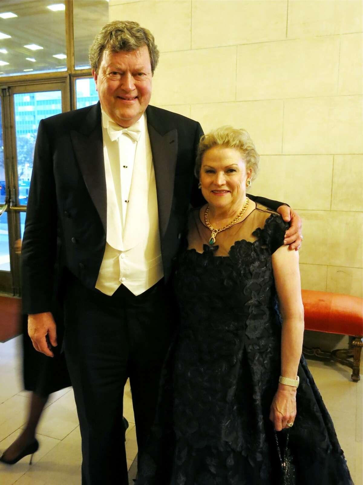 Opera Board chairman John Gunn and his wife, Honorary Opera Ball co-chair Cynthia Fry Gunn, are loyal Opera underwriters whose generosity will fund four productions this season alone.