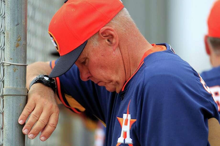 Astros pitching coach Brent Strom deserves credit for the progress of starters like Collin McHugh and Dallas Keuchel. Photo: Karen Warren, Staff / © 2013 Houston Chronicle