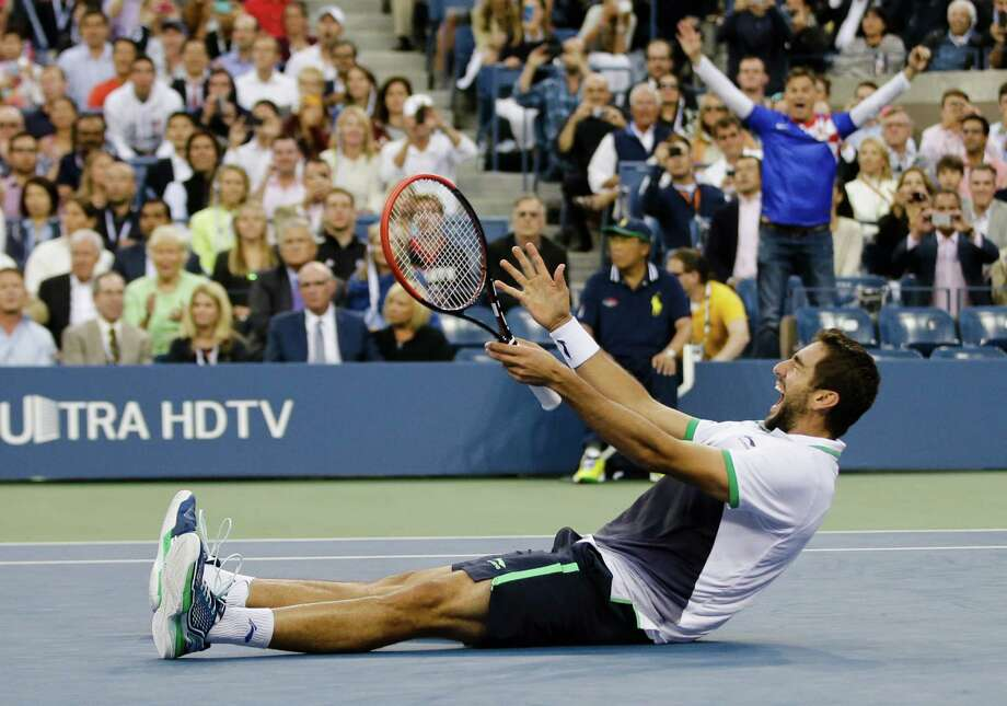 After Marin Cilic, of Croatia, above, beat Kei Nishikori, of Japan, in three sets with identical scores, he said he played the best tennis of his life in the two weeks of the U.S. Open. Photo: Darron Cummings, STF / AP