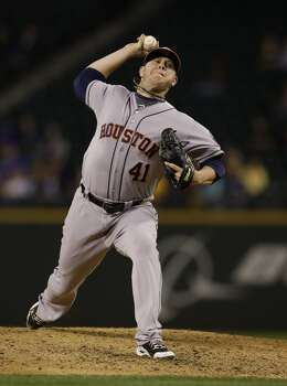 September 8: Mariners 4, Astros 1  Brad Peacock kept the Astros in it with five strong innings, but Houston lets Monday's series opener slip away.  Record: 63-81. Photo: Ted S. Warren, Associated Press