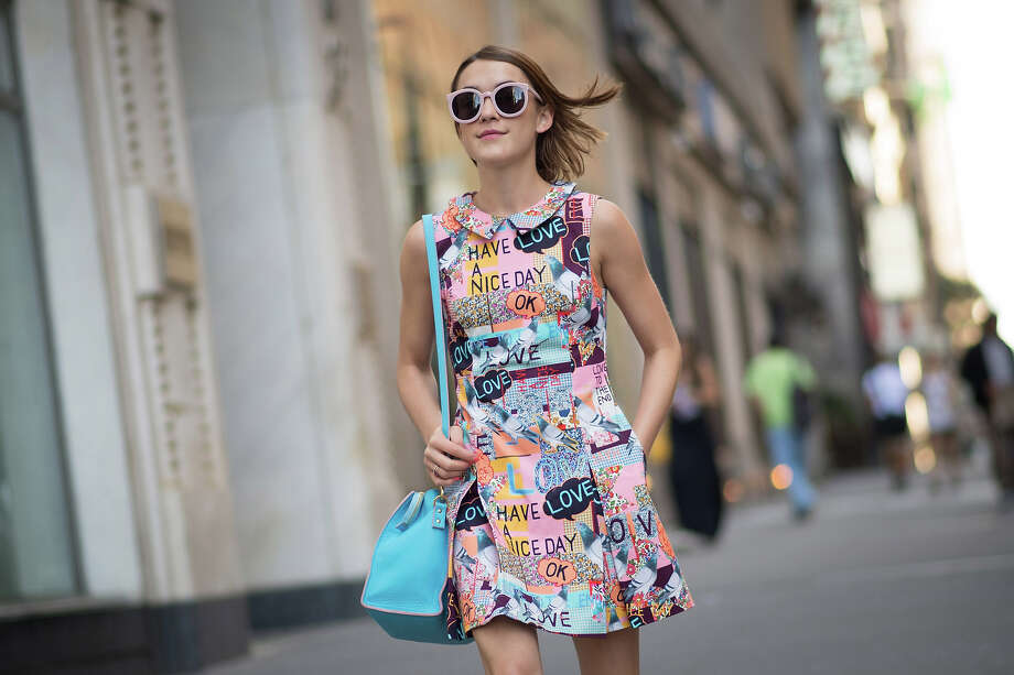 A guest seen after the Victoria Beckham show during New York fashion week on September 7, 2014 in New York City. Photo: Timur Emek, Getty Images / 2014 Timur Emek
