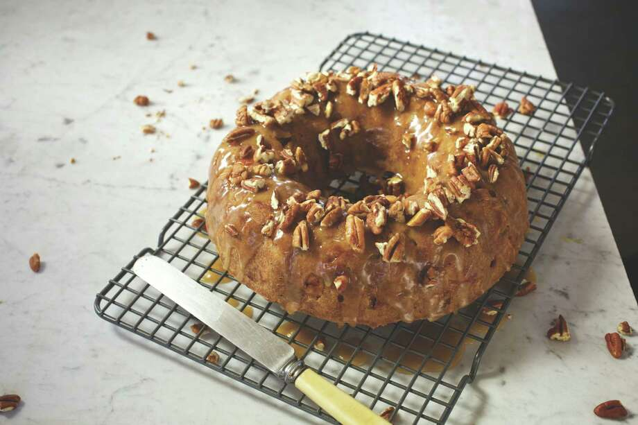 "Madelyn's Apple Pecan Cake from ""Central Market's 20th Anniversary Cookbook."" Photo: Central Market / Central Market"