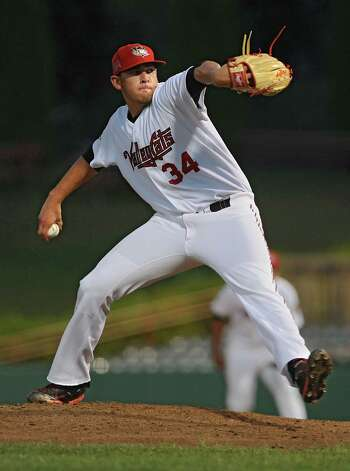 Tri-City ValleyCats pitcher Joe Musgrove hrows the ball during game 2 of the New York-Penn League championship series against State College Spikes at Joe Bruno Stadium on Monday, Sept. 8, 2014 in Troy, N.Y. (Lori Van Buren / Times Union) Photo: Lori Van Buren / 00028500A