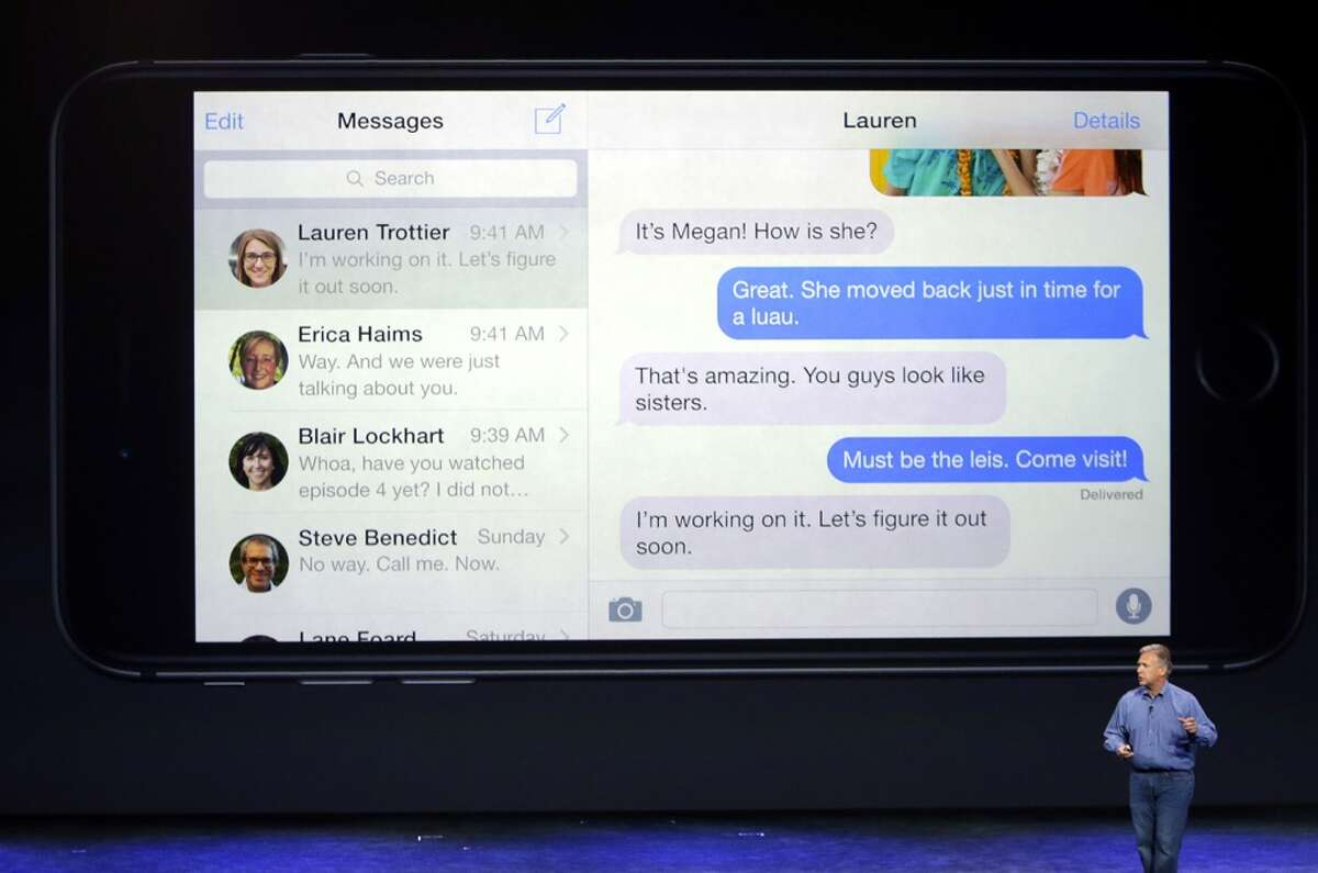 Phil Schiller, Apple's senior vice president of worldwide product marketing, discusses messaging on the new iPhone 6 and iPhone 6.