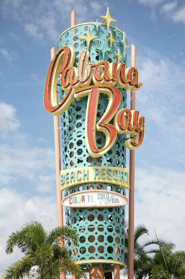 The Cabana Bay Beach Resort is Universal Orlando's newest, a 50's-themed hotel in Orlando, Fla. The resort, which has 1,800 rooms, also features two swimming pools, a fitness studio, bowling alley and Game-O-Rama game room. (Madeline Gray/The Palm Beach Post/MCT) Photo: Madeline Gray, MBR / The Palm Beach Post