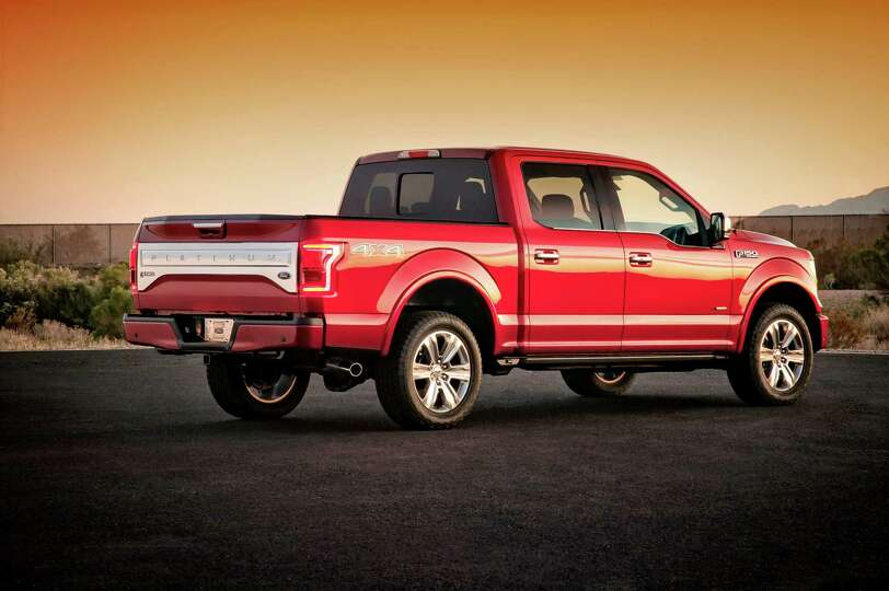 FILE - This undated photo provided by Ford shows the company's new 2015 F-150 pickup truck. Revoluti