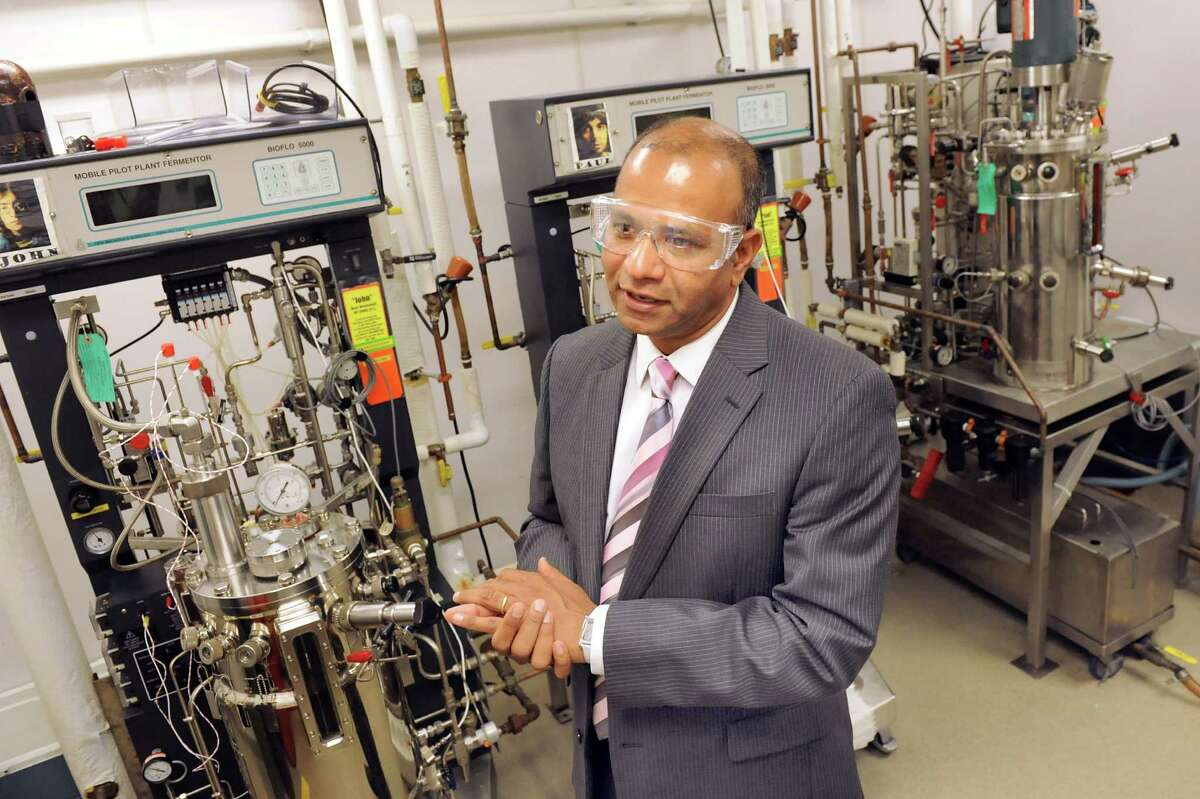 Deepak Vashishth, director of the Center for Biotechnology and Interdisciplinary Studies, in the microbiology core on Tuesday, Sept. 9, 2014, at Rensselaer Polytechnic Institute in Troy, N.Y. (Cindy Schultz / Times Union)