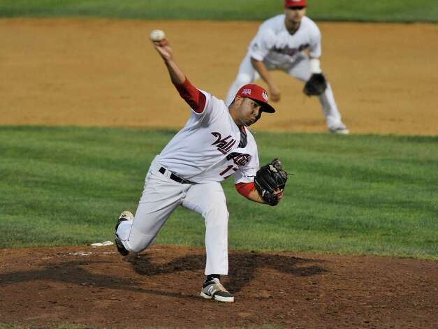 ValleyCats pitcher Robert Kahana throws a pitch during the final game of the New York-Penn League Championship at Joe Bruno Stadium on Tuesday, Sept. 9, 2014, in Troy, N.Y.  (Paul Buckowski / Times Union) Photo: Paul Buckowski / 00028501A