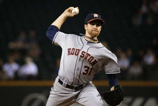 September 9: Astros 2, Mariners 1  Collin McHugh tossed a gem and Jonathan Villar singled in the go-ahead run in the top of the 9th inning as the Astros bounced back after an ugly loss to the Mariners on Monday night.  Record: 64-81. Photo: Ted S. Warren, Associated Press
