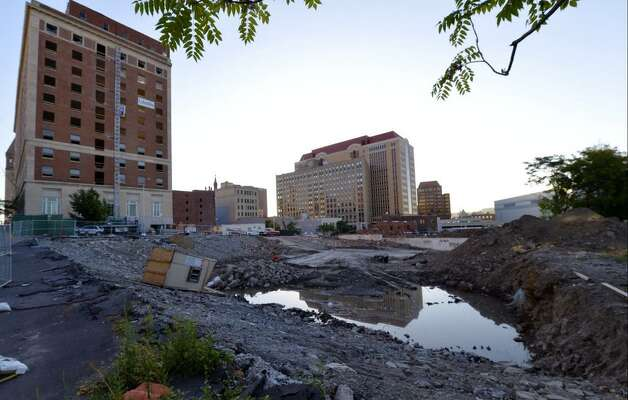 The Convention Center site demolition continues in Albany at the former Wellington Annex. (Skip Dickstein/Times Union)