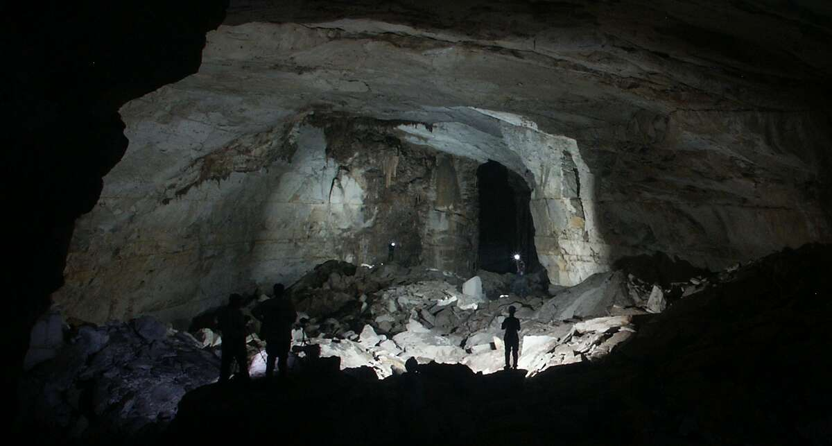 Kickapoo Caverns State Park is located near Bracketville.