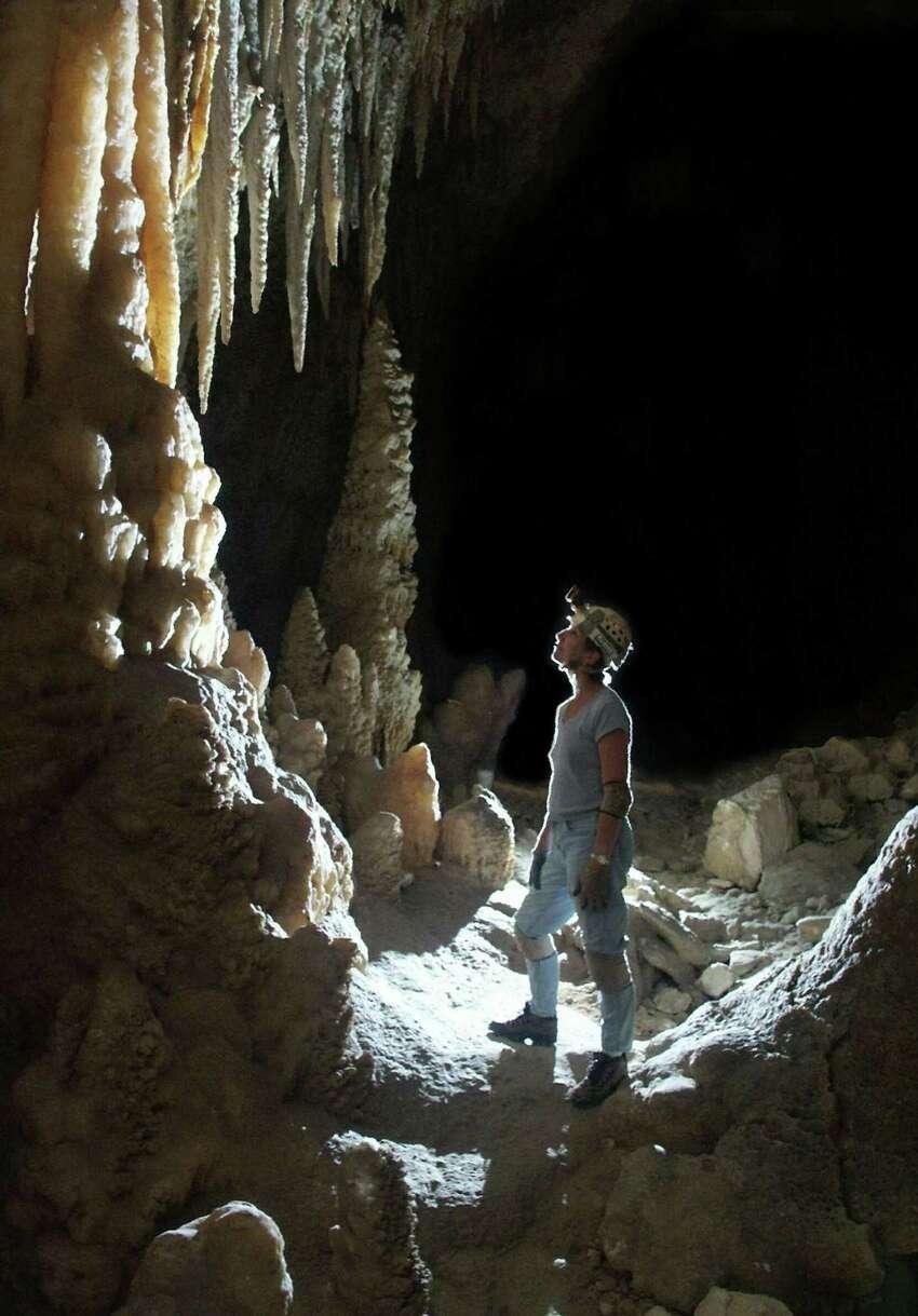 Kickapoo Caverns State Parkis located near Bracketville.