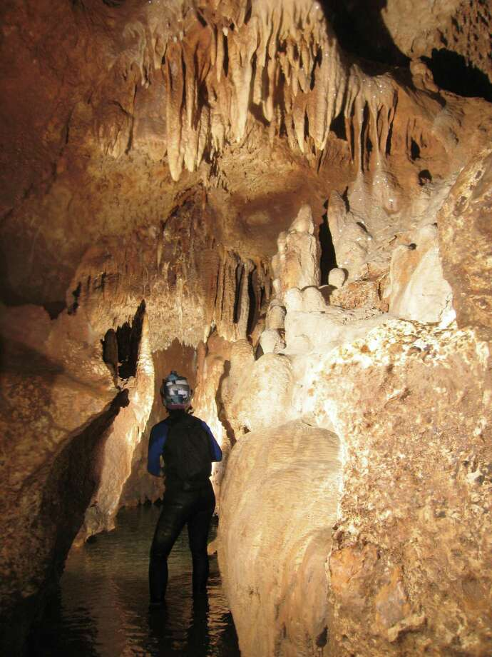 "Honey Creek Cave is the longest known cave in Texas, stretching more than 20 miles. It is continuously ""growing"" because cavers are still exploring the huge underground formation and it is a tributary of the Guadalupe River. Photo: Kurt Menking"