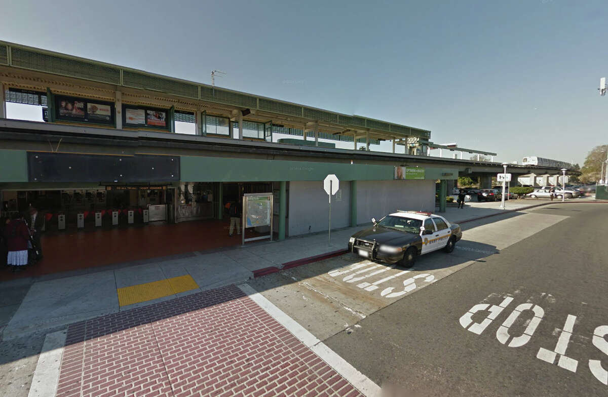 A person was shot at the Bay Fair BART station parking lot on Tuesday evening.