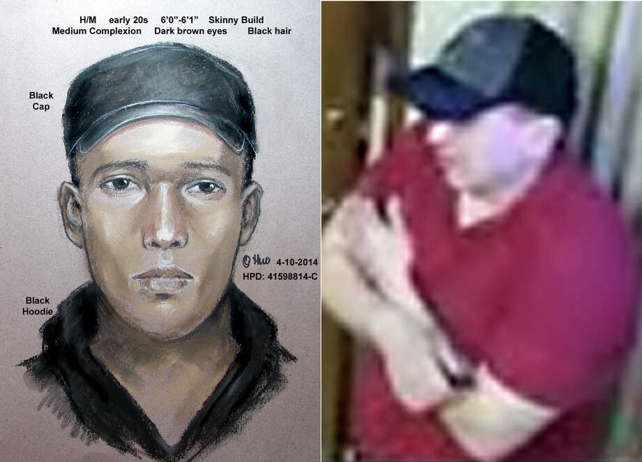 Police are searching for two men they say robbed spas in southwest Houston eariler this year. The men are described as being Hispanic and in their early twenties. One of them is about 6 feet tall and skinny. He has black hair and brown eyes. He wore a black cap and a black hoodie. Police released a composite sketch and a surveillance photograph of him.