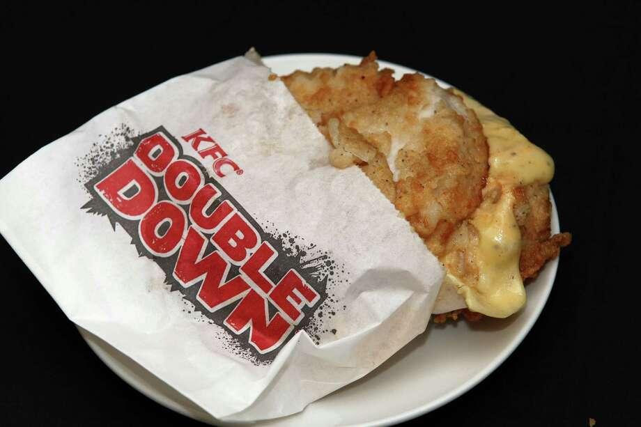 KFC Double Down Sandwich, 610 calories. Photo: Sandra Mu, Getty Images / 2011 Getty Images