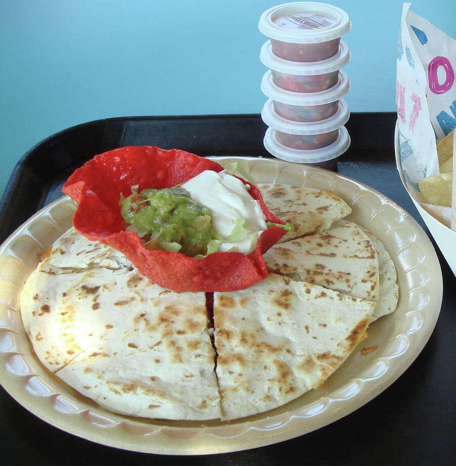 Taco Cabana Personal Chicken Fajita Quesadilla, 760 calories. (A Large is 1,350.) Photo: D.L. Via Flickr, Wikimedia Commons