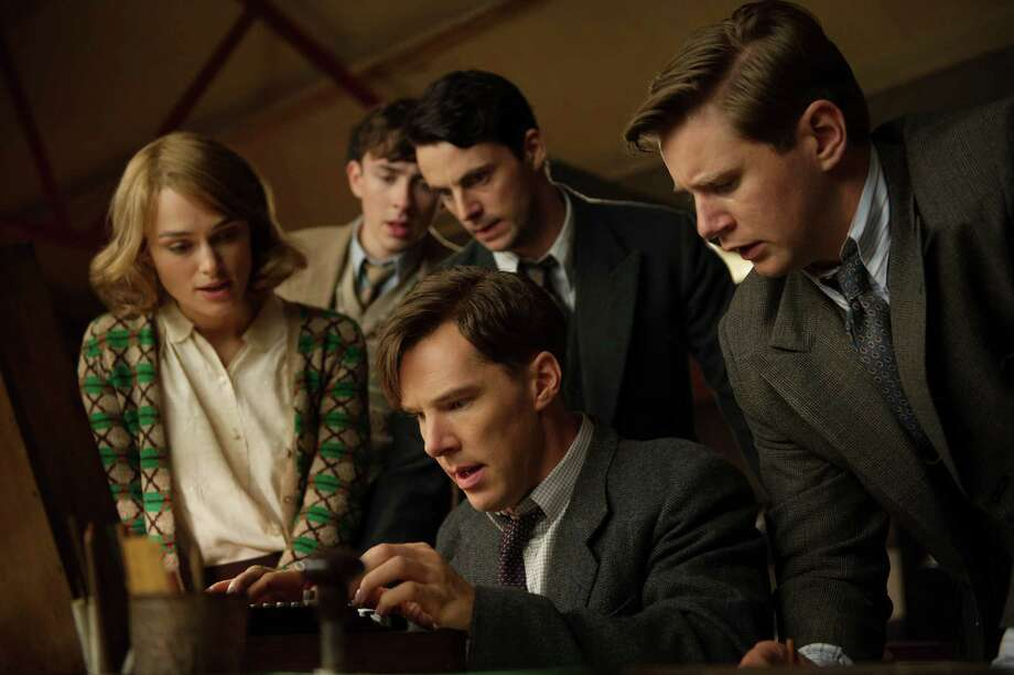 "This image released by The Weinstein Company shows, clockwise from left, Keira Knightley, Matthew Beard, Matthew Goode, Allen Leech and Benedict Cumberbatch in a scene from the film, ""The Imitation Game."" (AP Photo/The Weinstein Company, Jack English) Photo: Jack English, HONS / The Weinstein Company"