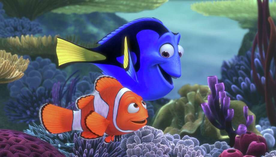 "Marlin, front, and Dory head off on a great adventure in ""Finding Nemo."" Photo: PIXAR, HO / KRT"