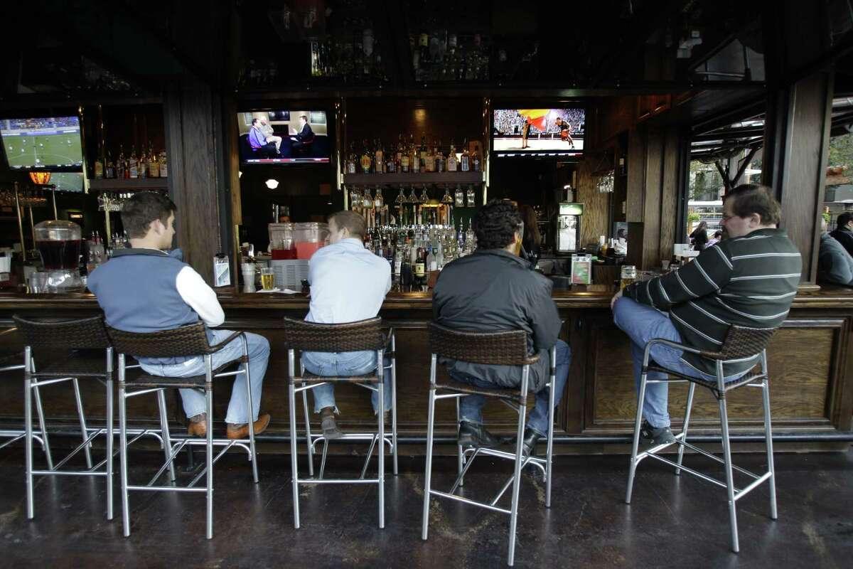 Bar on outdoor patio at Celtic Gardens, 2300 Louisiana, Friday, Nov. 11, 2011, in Houston. ( Melissa Phillip / Houston Chronicle )