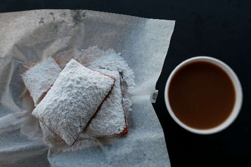 Beignets and Cafe Au Lait at Where Y'At food truck.
