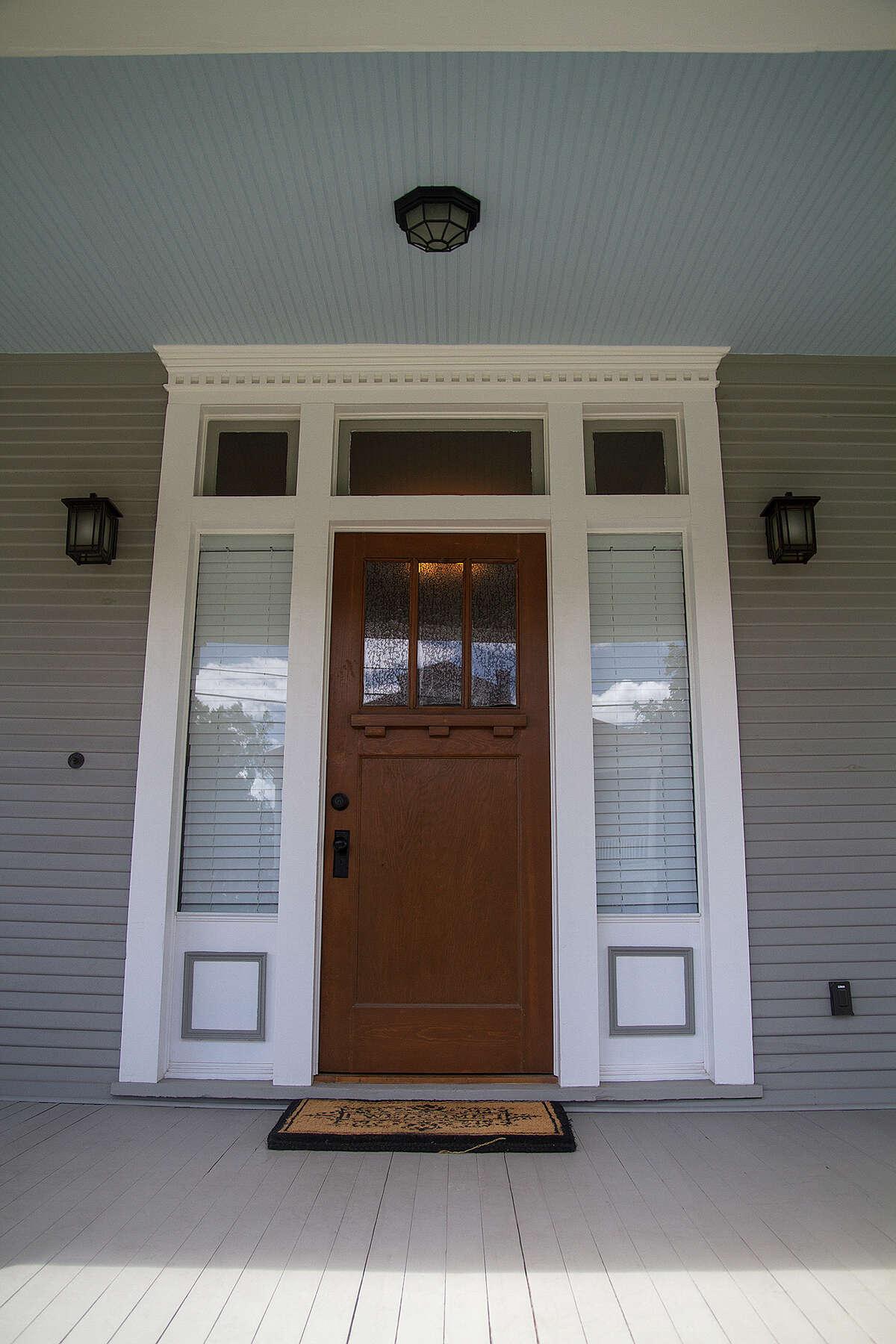 Front door of Cody Doege's remodeled home in the Tobin Hill neighborhood.