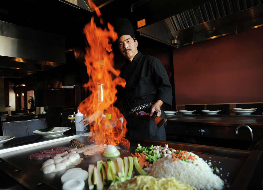 Alan Wu, owner/chef of Hana Tokyo, a new hibachi and sushi restaurant at 1275 Post Road in the Brick Walk complex in Fairfield, Conn. on Wednesday, September 10, 2014. Photo: Brian A. Pounds / Connecticut Post
