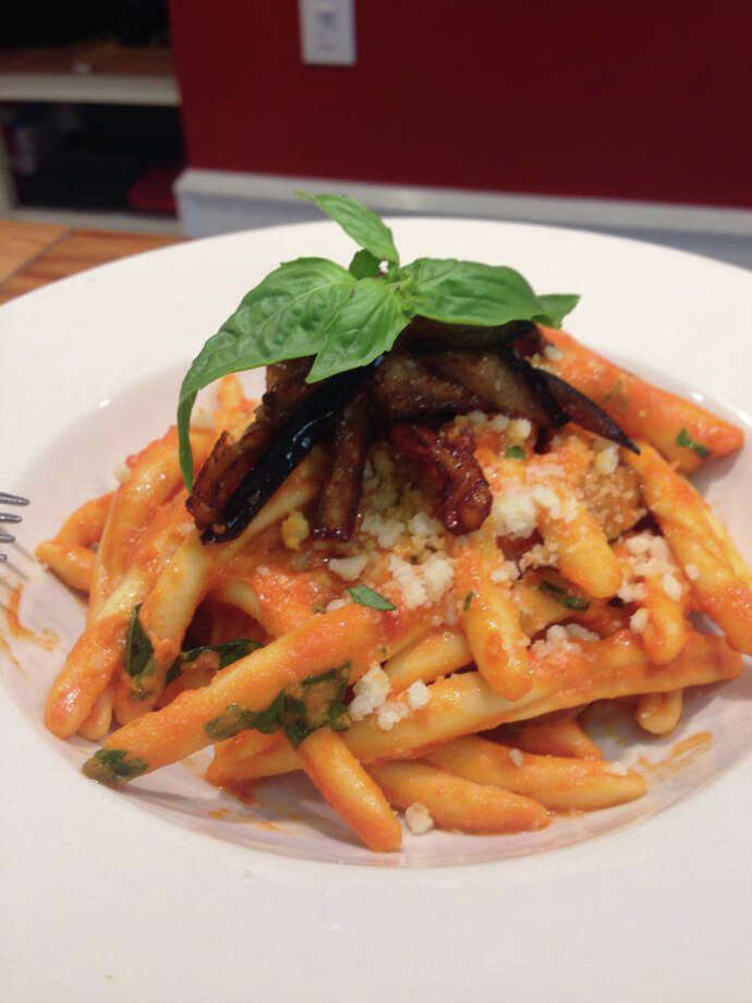 Fusilli Calabrese w/ Tomato, Eggplant & Goat Cheese at Meatball & Co. in Darien. Photo: Contributed Photo / Connecticut Post Contributed