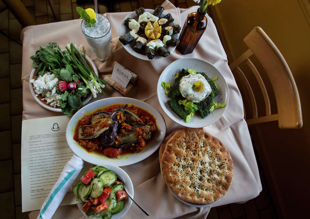 Roost's Kevin Naderi cooked up this table of food.