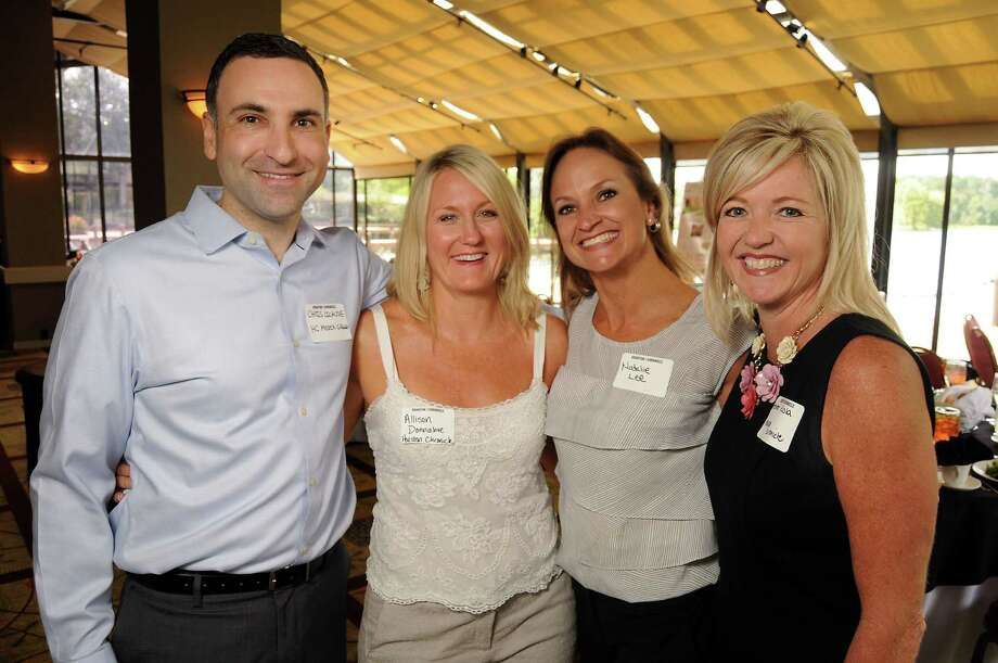 From left: The Chronicle's Chris Licause, Allison Donnahoe, Natalie Lee and Heather Kisla at the Houston Chronicle's Woodlands Luncheon at The Woodlands Resort & Conference Center Sept. 10, 2014.(Dave Rossman photo) Photo: Dave Rossman, For The Houston Chronicle / © 2014 Dave Rossman