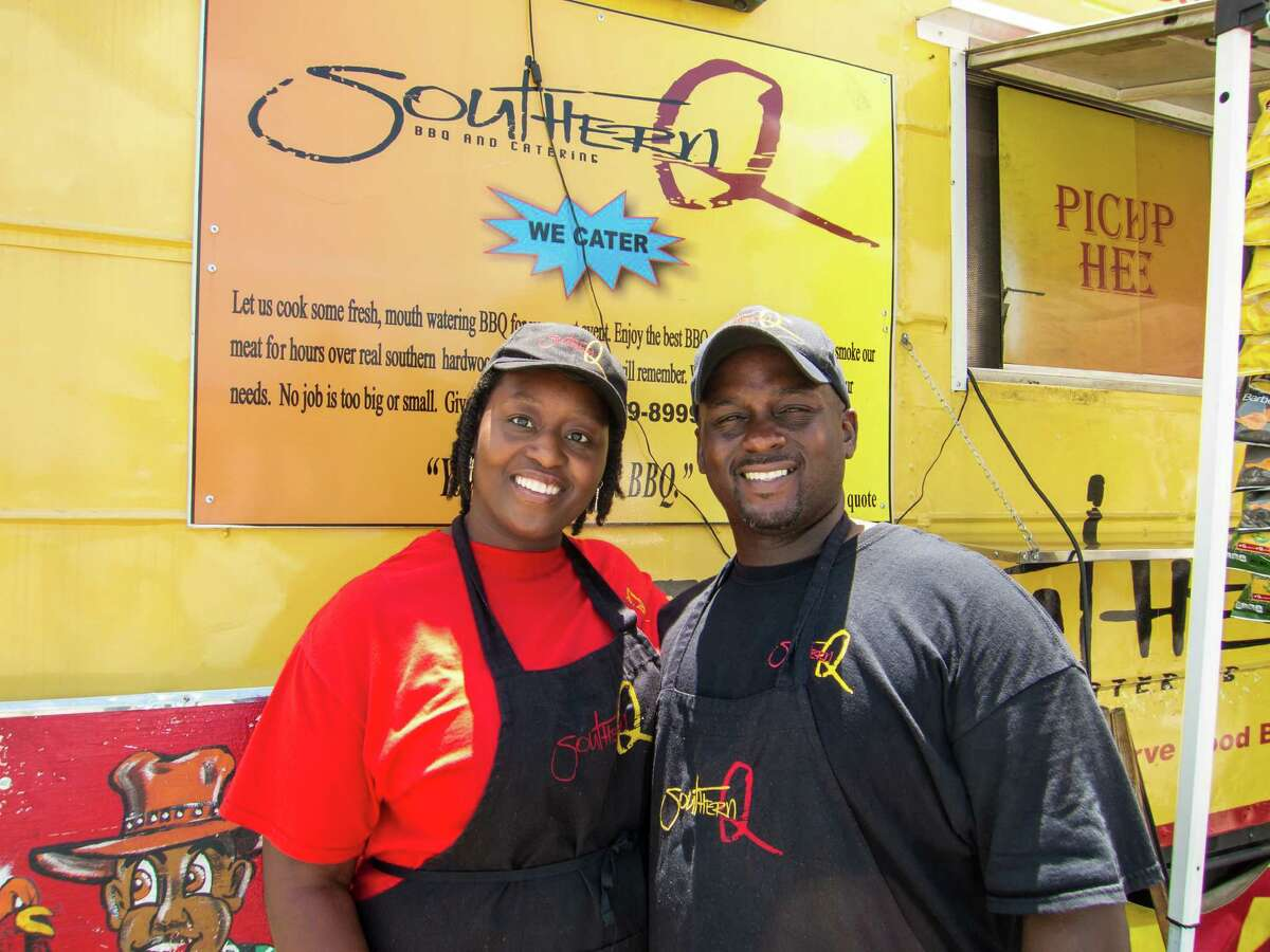 Steve and Sherice Garner operate the Southern Q BBQ Trailer.