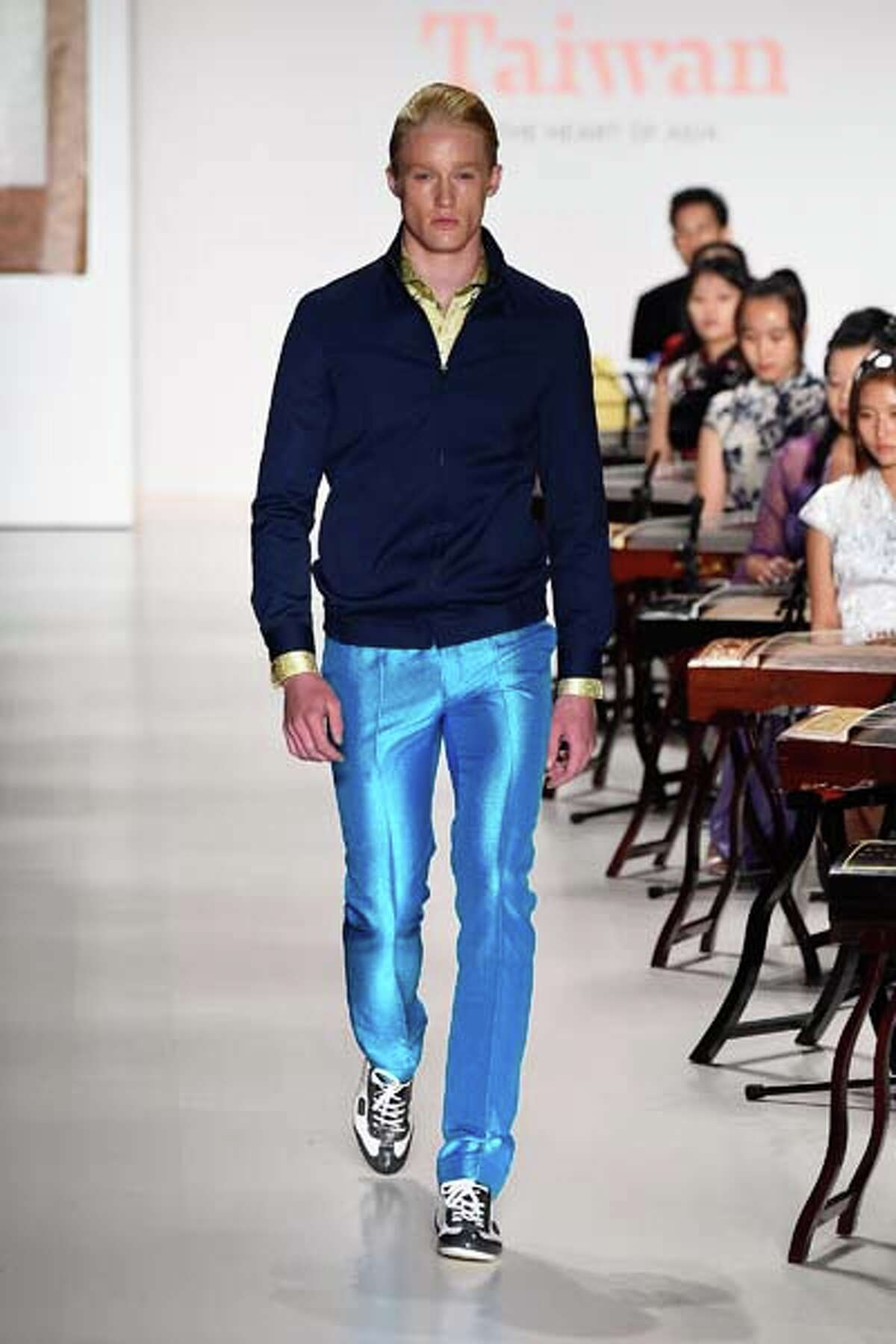 These shiny pants, on the other hand, are so amazing. Someone needs to wear these to the office right now.