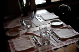 Dining table at the ready at Casanova, one of the stops on Staci Giovino's Carmel food tour.