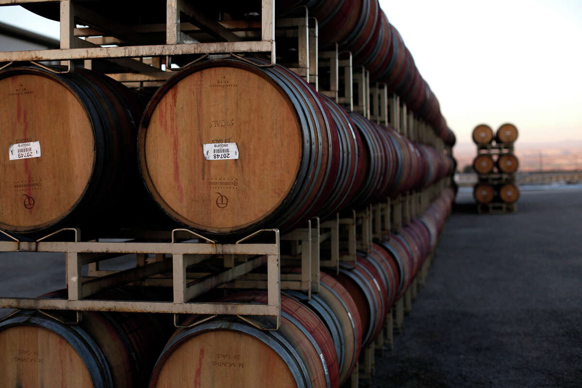 Barrels sit wait to be filled at San Bernabe's on-site winery, which will get a