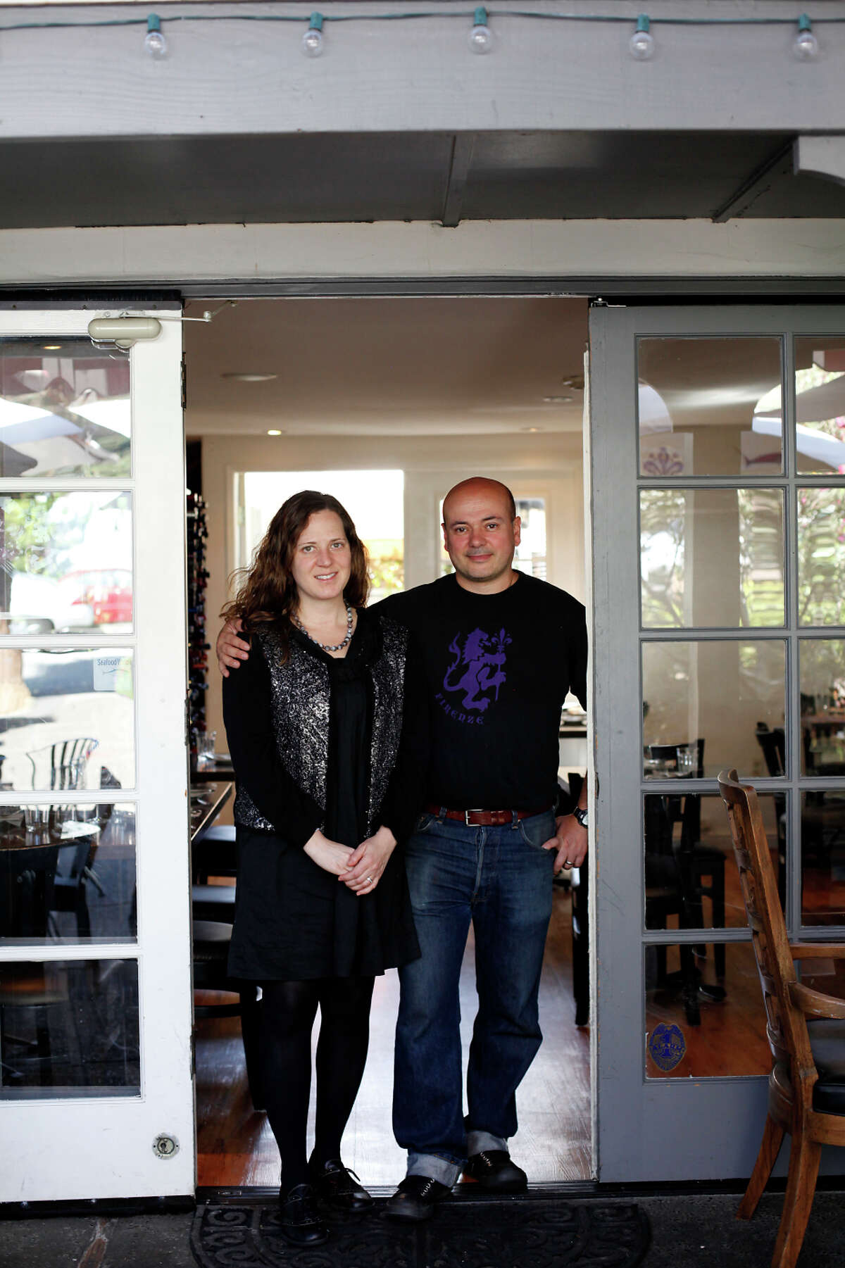 Owners Anna and Emanuele Bartolini at la Balena, their cozy, 48-seat restaurant in Carmel-by-the-Sea.